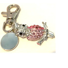 Stoned owl engraved / personalised keyring with velvet gift pouch ref PL331