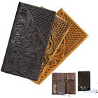 Genuine Tooled Leather Wallet Mens Ladies with Portable Battery Charger