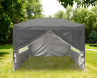 Anthracite Garden Pop Up Gazebo Marquee Outdoor Party Tent Canopy with Carry Bag