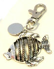 Engraved / personalised metal fish keyring in gift pouch BR309