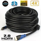 PREMIUM HDMI CABLE 2.0 4K 18Gbps 2160p 3D LEAD 1.5FT 3FT 6FT 10FT 15FT 25FT 30FT