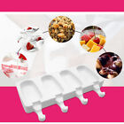 4 Cavities Silicone Ice cream Mold Summer Dessert Chocolate Cake Mould Non-stick