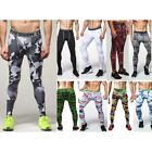 Fashion Mens Compression Sports Base Layer Pants Gym Fitness Leggings Trousers