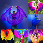 colorful Belly Dance beach photography silk veils 3yd45 large veil real silk