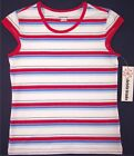 NWT Christie Brooks Red White & Blue Striped Patriotic Top, M (10-12) or L (14)