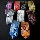 Men Fashion Classic Tie Floral Paisley Skinny Narrow Wedding Party Necktie $5.29 CAD on eBay