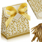 10/50/100 Wedding Favour Favor Sweet Cake Gift Candy Boxes Anniversary Party