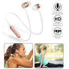 Wireless Stereo Bluetooth Headset Sports Earphone Earbuds Headphone Metal Magnet