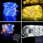 100 LED 12M Solar Powered White LED Rope Light Outdoor Strip Party Lights Xmas