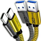 (2 Pack) USB Nylon Braided Cord Cable Charger for LG Cell Phones (Silver + Gold)