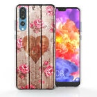Huawei P20 Pro Case Vintage Heart Natural Rose Print Best Thin Protective Cover