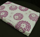 we604t Purple Orchid Aster Chenille 3D Box Shape Sofa Seat Cushion Cover*Size