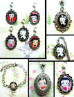 BETTY BOOP CLIP ON CHARM OR NECKLACE OR BRACELET OR BOOKMARK £6.99 GBP