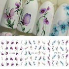 Nail Art Water Decals Transfer Stickers Summer Flower Women Manicure Decor Tips