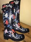 JOULES Wellies Fanfayre Silver Posy Floral Patterns Sz 3 4 5 6 7 8 FreeUKP&P