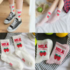 Trendy Women Funny Casual Cotton Socks Fruit Print Short Socks In tube socks