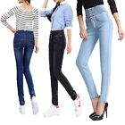 Pencil Button Jeans UK sz 24 25 in. 26 27 in. 28 29 in. 30 31 in. 32 33 34 36