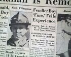 DONN FENDLER Rye NY Boy Lost in Maine Mountains Woods FOUND Alive 1939 Newspaper