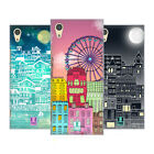 HEAD CASE DESIGNS DOODLE TOWN HARD BACK CASE FOR SONY PHONES 1