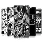 HEAD CASE DESIGNS BLACK AND WHITE TRENDS HARD BACK CASE FOR SONY PHONES 2