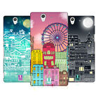 HEAD CASE DESIGNS DOODLE TOWN HARD BACK CASE FOR SONY PHONES 3