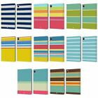 HEAD CASE DESIGNS STRIPES COLLECTION LEATHER BOOK WALLET CASE FOR APPLE iPAD
