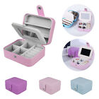 Womens Travel Portable Jewellery Box Organizer Mirror Drawers Jewel Storage Case
