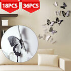 18/36Pcs 3D Removable Butterfly Sticker Home Decoration PVC Art Wall Decal Mural