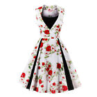 Damen Vintage Abendkleid Rockabilly kleid Cocktailkleid Partykleid Ballkleid NEU