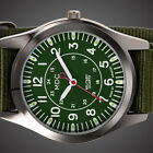 INFANTRY Mens Analog Wrist Watch Glow In Dark Fashion Sport Military Army Canvas image