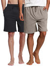Men's 2pk Knit Shorts Drawstring Pockets/lounge and sleep we