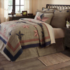 VINCENT QUILT SET - choose size & accessories - Rustic Star Plaid VHC Brands image