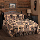 BINGHAM STAR QUILT SET- choose size & accessories- Rustic Plaid Check VHC Brands image