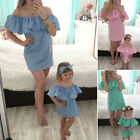 Lady's Mommy&me New Set Dress Daughter Baby Casual Matching Mother And Family