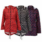 Ladies Womens Kagool Hooded Fish Tail Polka Dot Jacket By Brave Soul