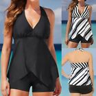 Womens Tankini Sets Boy Shorts Ladies Swimwear Plus Size Two Piece Swimsuits UK