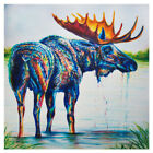 40-60cm Square Abstract Art Canvas Oil Animal Picture Wall Painting Home Decor