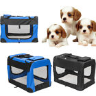 Pet Dog Carrier Foldable TrainingKennel Portable Soft SidedCage House Blue/Black