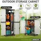 Shogun Lockable Outdoor Storage Cabinet Garden Garage Shed Adjustable Cupboard