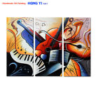 Large Hand-painted Modern Wall Art Colorful Music Abstract Oil Painting Canvas