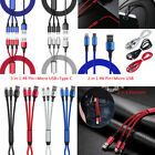 3in1 / 2in1 Type C Cable Micro USB 8 Pin Fast Charge Cable For iPhone & Android