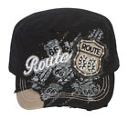 TopHeadwear Route 66 Distressed Cadet Cap