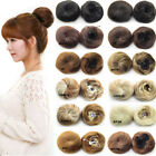 Blonde 99J Small Hair Bun Clip In Hair Pieces Chignon Hairpiece With Drawstring