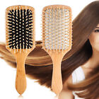 Natural Wood Paddle Brush Wooden Hair Care Spa Massage Anti-static Comb-Beauty