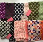 Isaac Mizrahi Scarf Wrap Animal Print Polka Dots You Choose NEW