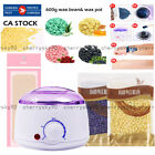 600g Hard Wax Beans Hot Wax Warmer Heater Machine For Painless Hair Removal CA