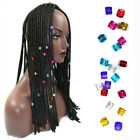 100pcs Hair Beads Rings Cuff Clip Jewelry Hair Strings for Braids Locs Wire Wrap