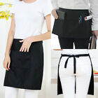 Внешний вид - Black Unisex Waiters Waitress Chef Waist Half Short Restaurant Apron 2/3 Pockets