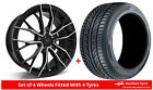 Alloy Wheels & Tyres 7.5x17 GEN2 Axiom 5 Black Polished Face + 2254517 Tyres