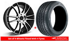 Alloy Wheels & Tyres 8.0x18 GEN2 Maven Black Polished Face + 2254518 Tyres